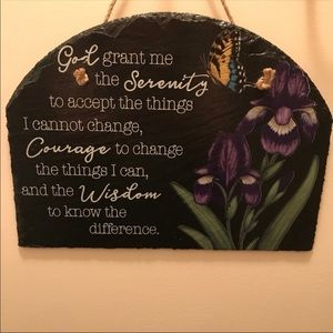 Painted Slate Wall Plaque.